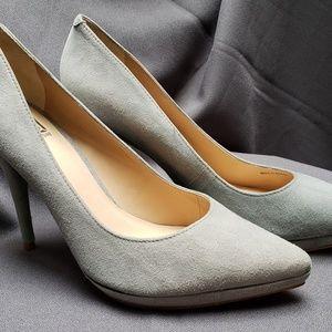 Pour La Victoire Dove Grey Suede Shoes